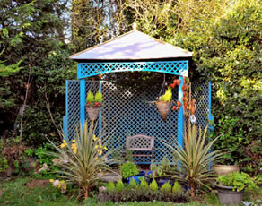 Wooden Blue Gazeebo